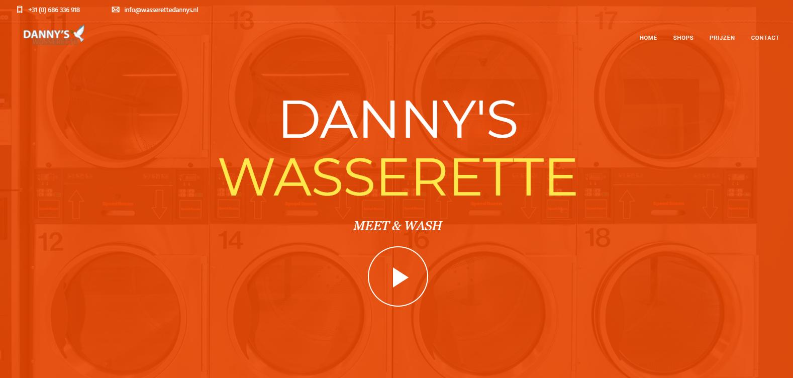 Danny's wasserette webdesign