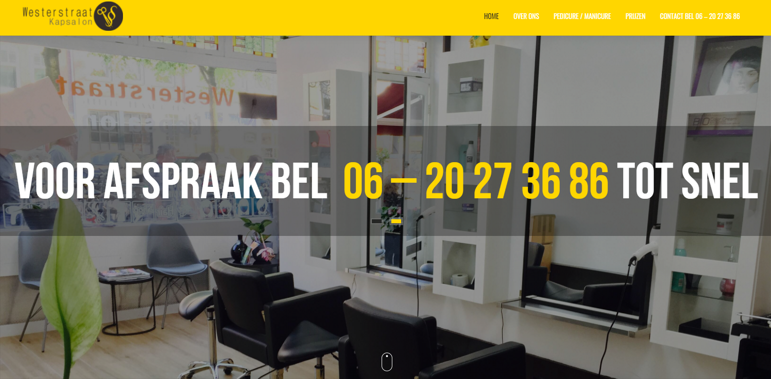 Westerstraatkapsalon webdesign
